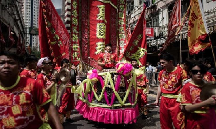 هونغ كونغ تحتفل بآلهة البحر والرياح والعواصف والبحارة