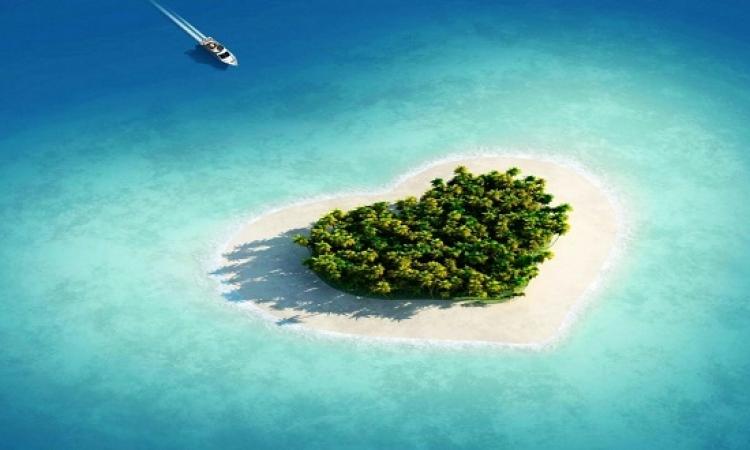 بالصور .. جزر القلب .. للحبايب فقط !!