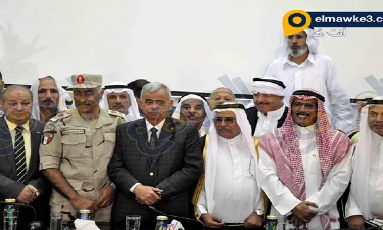بالصور .. مؤتمر القبائل العربية بالسويس بحضور محافظ السويس وقائد الجيش التانى
