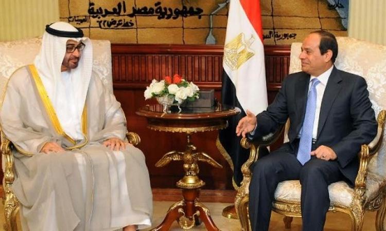 السيسى وولى عهد أبوظبى يبحثان العلاقات الثنائية وسبل مواجهة الإرهاب