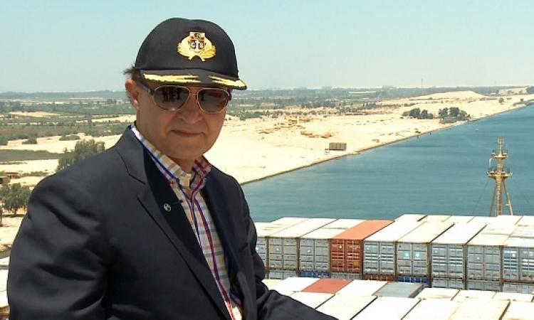 مهاب مميش: قناة السويس رمز التحدى والشعب المصرى يسطر التاريخ
