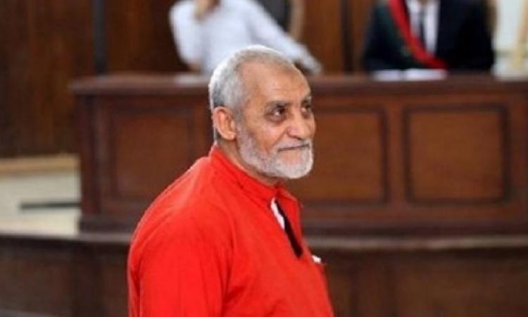"""جنايات القاهرة تواصل اليوم محاكمة محمد بديع و738 آخرين فى """"فض اعتصام رابعة"""""""