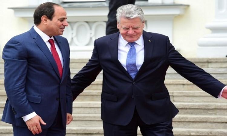 بدء القمة المصرية الألمانية بين السيسى ونظيره يواخيم جاويك