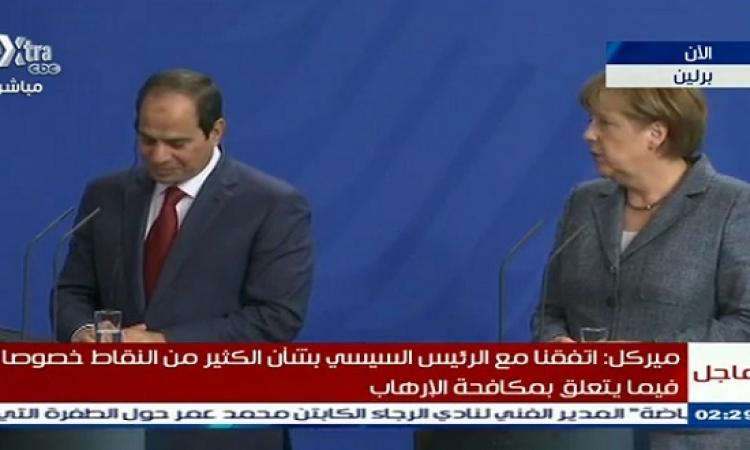 السيسى فى مؤتمره الصحفى: أحكام الإعدام بحكم القانون.. والشعب من وضع مرسى وشاله
