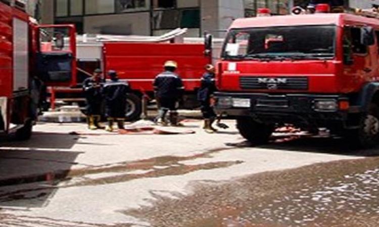قوات الحماية المدنية تخمد حريق شب بديوان وزارة التموين