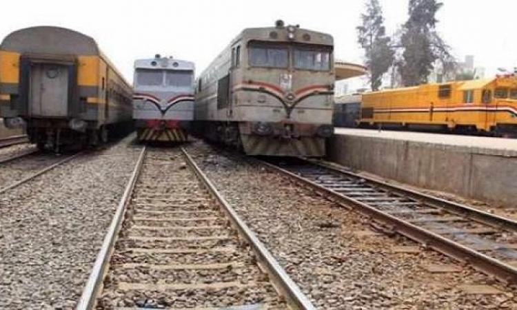 """انتظام حركة القطارات بخط """"القاهرة – طنطا"""" بعد توقفها لمدة نصف ساعة"""