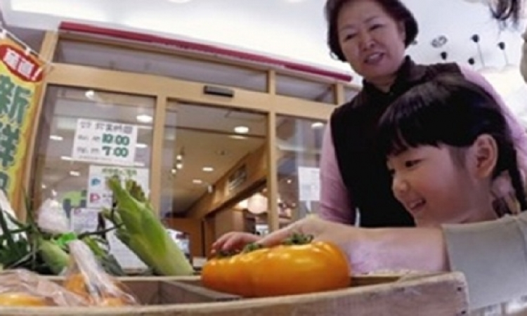 خضراوات متكلمة تتحدث مع المشترى لترويج المنتج