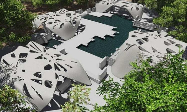 الرمال والغبار والحصى لتصميم المبانى بالطباعة الثلاثية الأبعاد