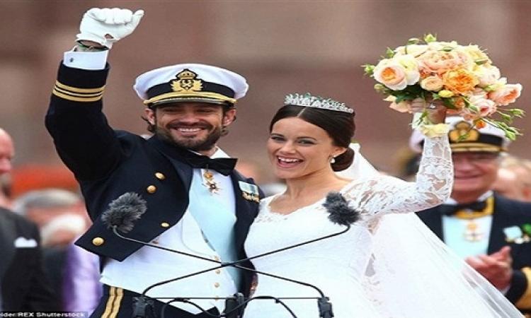 بالفيديو والصور.. مراسم أسطورية ملكية لزواج أمير سويدى من عارضة أزياء