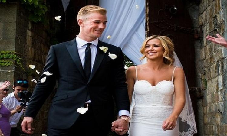بالصور .. حفل زفاف جو هارت حارس مرمى منتخب انجلترا