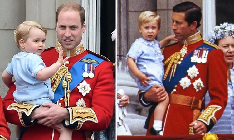 بالصور.. الأمير جورج يرتدى ملابس أبيه فى عيد ميلاد إليزابيث