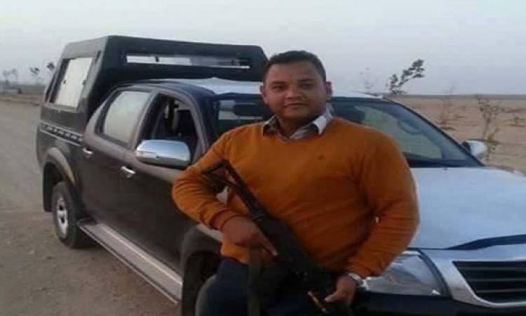 بالصور.. استشهاد نقيب شرطة بعد اطلاق ارهابيين النار عليه أمام منزله ببنى سويف