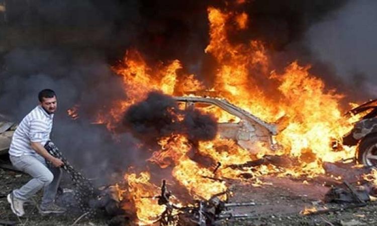 انفجار قنبلة بجوار سيارة شرطة بميدان عبد المنعم رياض