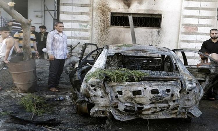 تفجير 5 سيارات لعناصر حماس والجهاد الإسلامى فى غزة