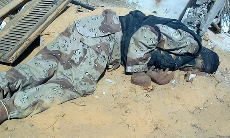 المتحدث العسكرى ينشر صور جديدة لجثث ارهابيين الشيخ زويد