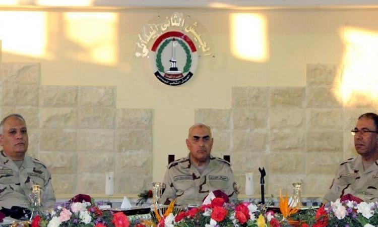وزير الدفاع يلتقى عناصر الجيش الثانى الميدانى