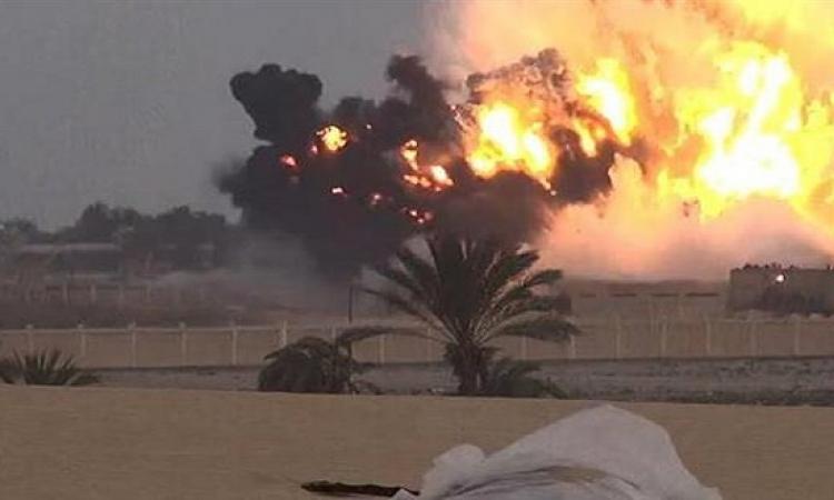 المتحدث العسكرى ينشر صور استهداف سيارات العناصر الإرهابية