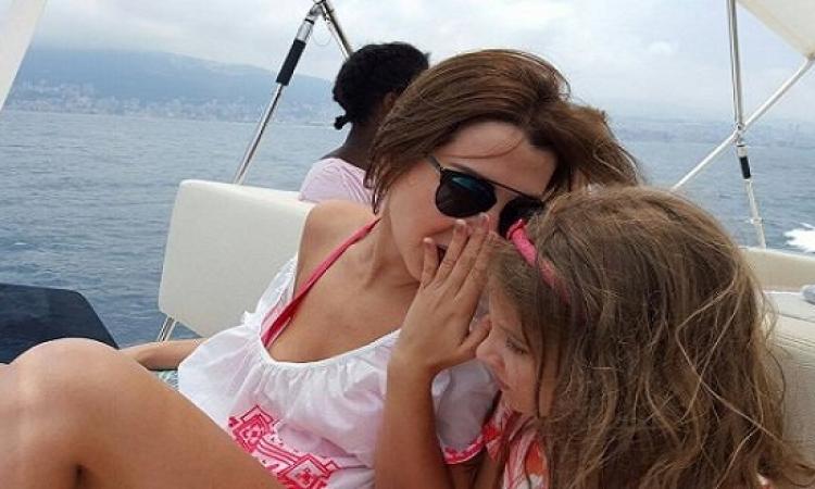 الصور الأولى من مصيف نانسى عجرم وأسرتها