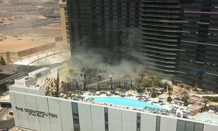 بالصور .. حريق فى أحد فنادق لاس فيجاس
