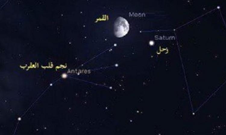 سماء مصر تشهد ظاهرة اقتران القمر مع كوكب زحل