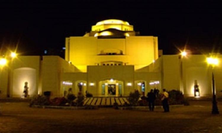 التاج الفرعونى يزين مسرح الأوبرا فى افتتاح قناة السويس الجديدة
