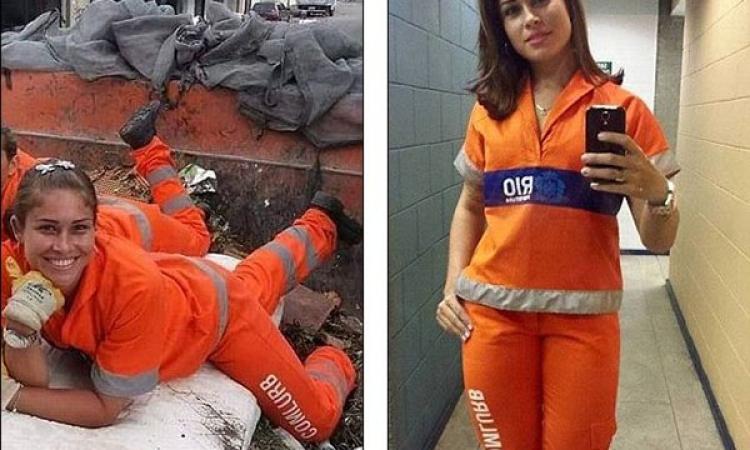 بالصور.. ملكة جمال الكناسين فى البرازيل.. لأ دى ملكة جمال العالم اصلاًَ