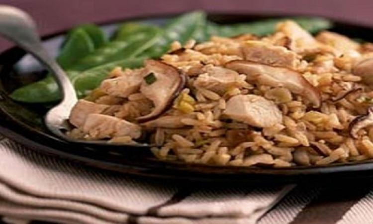 وصفة اليوم : ارز بالدجاج والمشروم