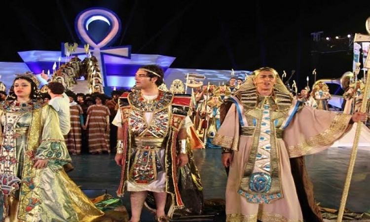 انتهاء عرض أوبرا عايدة بحفل افتتاح قناة السويس الجديدة.. وعزف السلام الجمهورى