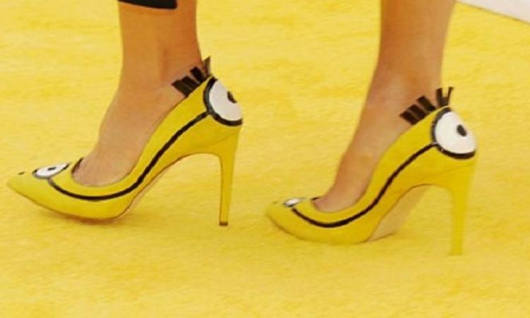 بالصور.. نجمات مشهورين أرتدوا حذاء المنيون فأيهما أجمل به!!