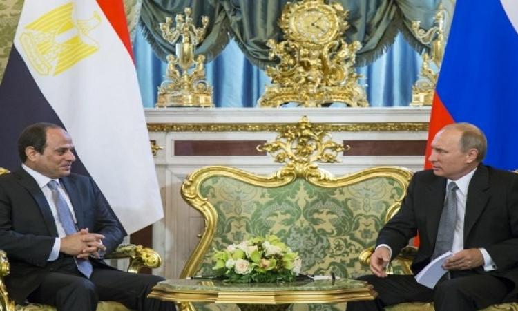 تعزيز العلاقات الثنائية ومكافحة الإرهاب يتصدران قمة السيسى وبوتين فى الكرملين
