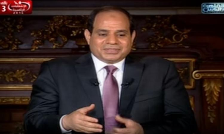 بالفيديو .. السيسى لأديب : عايشين فى اشلاء دولة وبكره تشوفوا العجب