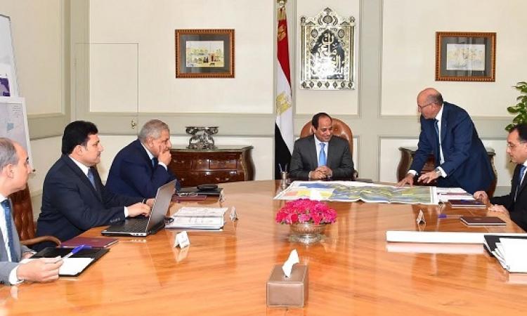 السيسى يجتمع بمحلب و3 وزراء لمتابعة مشروع المليون فدان