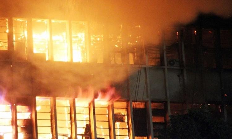 النيابة تندب المعمل الجنائى وتشكل لجنة لحصر تلفيات حريق سنترال العتبة