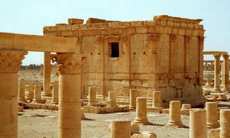 تفجير معبد بعل شمين الأثرى فى تدمر السورية على يد داعش