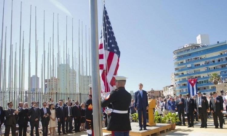 جون كيرى يفتتح سفارة الولايات المتحدة فى كوبا بعد 50 عاما من القطيعة