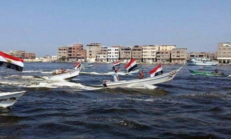 صيادى المراكب بدمياط ينظمون احتفالا بقناة السويس الجديدة