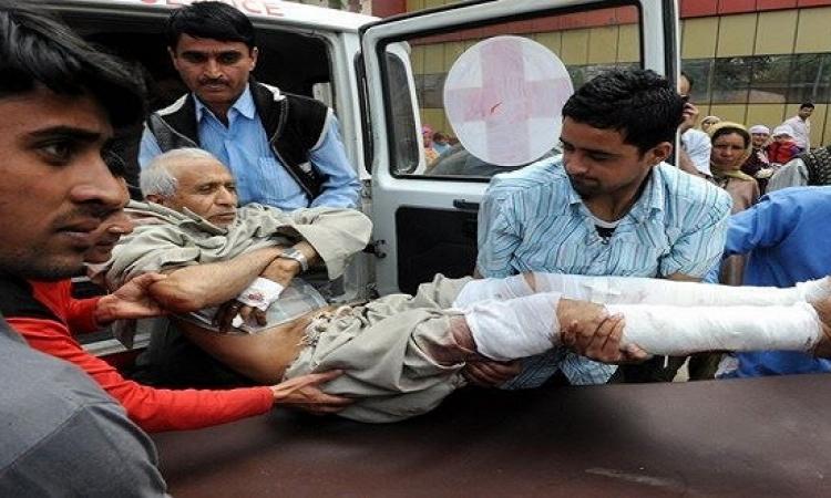 إصابة 10 فى انفجار مسجد بكشمير فى الهند