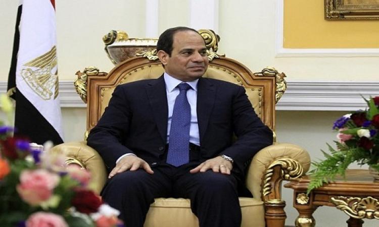السيسى يستقبل رئيس وزراء فرنسا بقصر الاتحادية