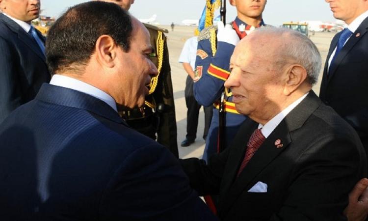 رسالة من الرئيس السيسى للرئيس التونسى السبسى ينقلها محلب