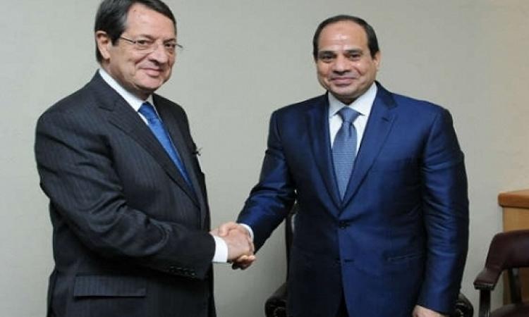 الرئيس القبرصى يهنىء عبد الفتاح السيسي باكتشاف الغاز الطبيعى