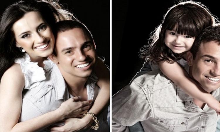 برازيلى يحيى ذكرى وفاة زوجته بإعادة التقاط صورهما لكن مع ابنتهما