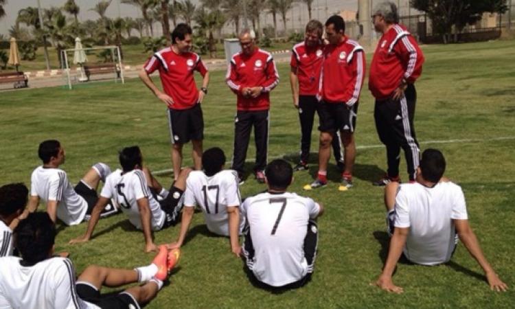 منتخب مصر يؤدى مرانه الأخير على ملعب إدريس محمد استعدادًا لمواجهة تشاد غداً