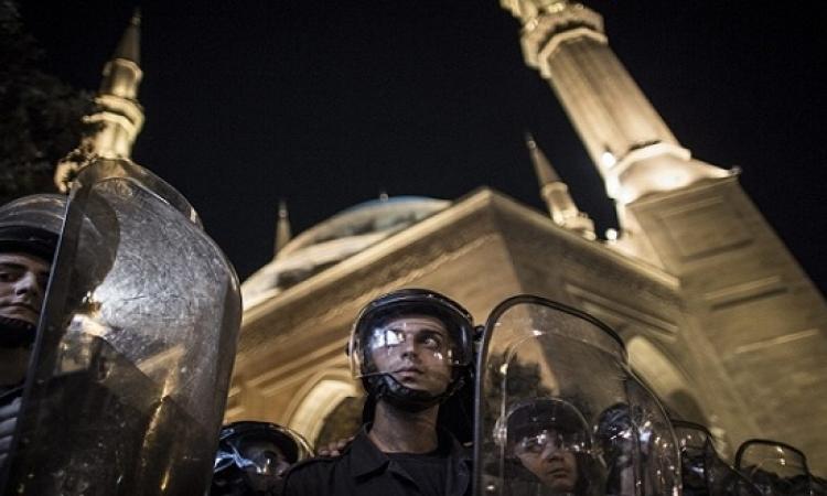 إغلاق مدخل القصر الجمهورى فى لبنان