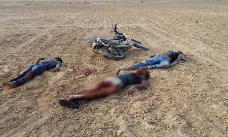 مقتل 3 إرهابيين أثناء محاولة اقتحام أحد الأكمنة الأمنية بالشيخ زويد