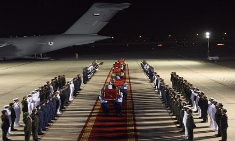 بالصور .. وصول جثامين شهداء الإمارات الـ 45 إلى أبو ظبى