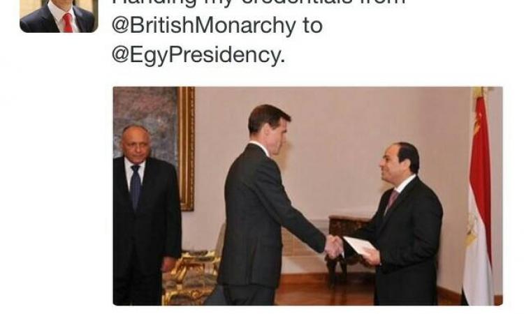 السفير البريطانى فى القاهرة يكتب: اتفضلوا معايا على فيسبوك وتويتر .. بيقول كلام زى الفل الصراحة