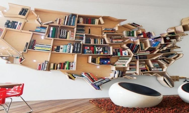 بالصور .. افكار جديدة ومبتكرة لتصميم المكتبات