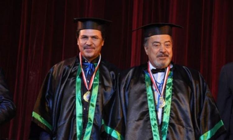 يوسف شعبان ومحمد رياض يحصلان على الدكتوراة الفخرية من كامبريدج