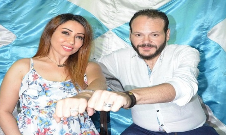 بالصور .. عقد قران أحمد بجة ورانيا مسعد .. كانوا مستنيين لما يخس !!