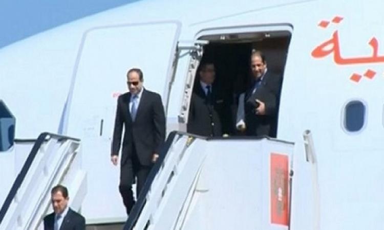 السيسى يصل نيودلهى لرئاسة وفد مصر فى منتدى الهند – إفريقيا